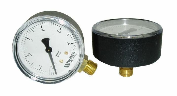 "MANOMETER  0-  6 Bar Zadný / 1/4""  M3A"