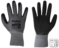 Z RUKAVICE ochranne PERFECT GRIP GRAY latex, vel.  8